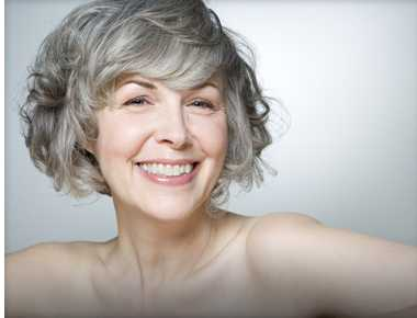 Mature Woman Happy with her Results from the Chemical Peel Treatment.